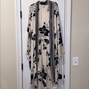 Billabong boho rayon kimono new large